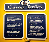 "Larsmont Cottages ""Camp Rules"""