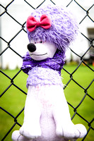 Poodle Purple Neckerchief